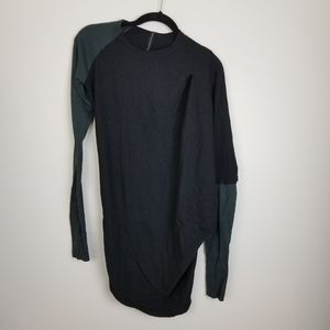 Improvd asymmetrical long sleeve sweater